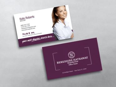 berkshire hathaway business card bhr203 - Berkshire Hathaway Business Cards