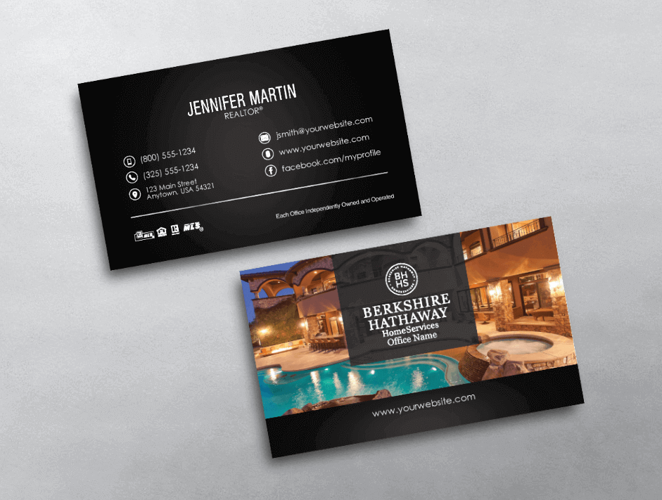 Top 10 berkshire hathaway business card designs for Top 10 business cards