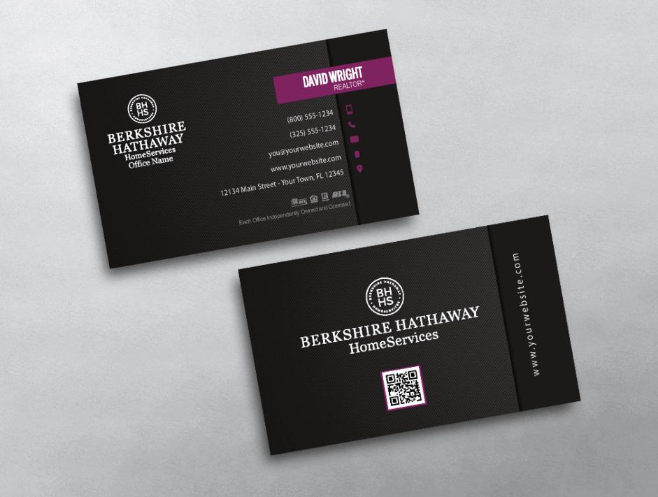 Berkshire Hathaway Business Cards | Berkshire Hathaway Business Card ...