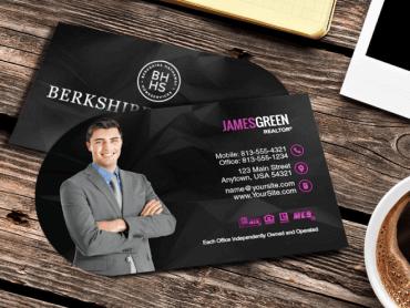 Die cut berkshire hathaway business cards berkshire hathaway half round colourmoves