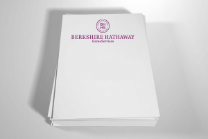 Berkshire hathaway business cards letterhead template style bhr09 85 x 11 vertical one sided full color spiritdancerdesigns Choice Image